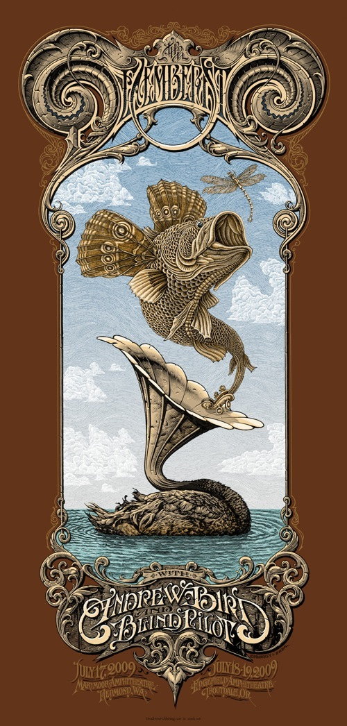 Decemberists screenprint by Horkey/Emek